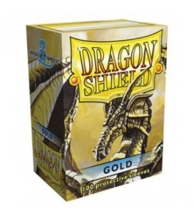 Fundas Standard Dragon Shield Color Oro - Paquete de 100