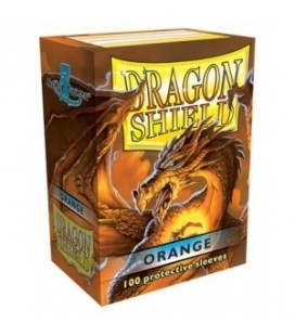 Fundas Standard Dragon Shield Color Naranja - Paquete de 100