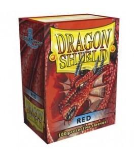 Fundas Standard Dragon Shield Color Rojo - Paquete de 100
