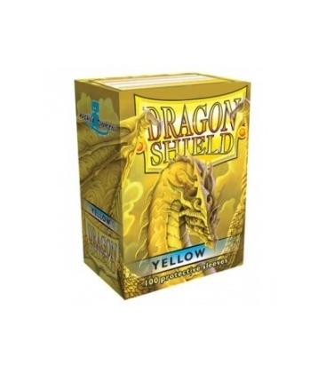 Fundas Standard Dragon Shield Color Amarillo - Paquete de 100