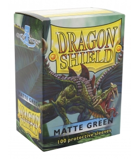 Fundas Standard Dragon Shield Matte Color Verde - Paquete de 100