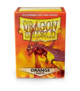 Fundas Standard Dragon Shield Matte Color Naranja - Paquete de 100