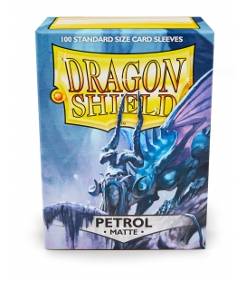 Fundas Standard Dragon Shield Matte Color Petróleo - Paquete de 100