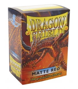 Fundas Standard Dragon Shield Matte Color Rojo - Paquete de 100
