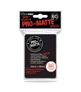 Fundas Small Pro Matte Ultra Pro Color Negro - Paquete de 60