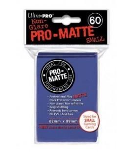 Fundas Small Pro Matte Ultra Pro Color Azul - Paquete de 60