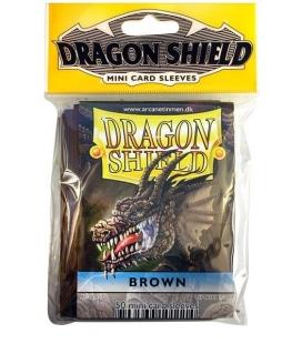 Fundas Small Dragon Shield Color Marrón - Paquete de 50