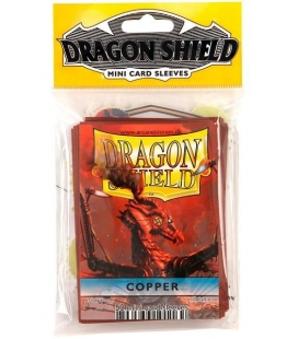 Fundas Small Dragon Shield Color Cobre - Paquete de 50