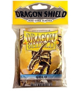 Fundas Small Dragon Shield Color Oro - Paquete de 50