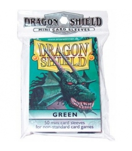 Fundas Small Dragon Shield Color Verde - Paquete de 50