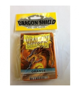 Fundas Small Dragon Shield Color Naranja - Paquete de 50