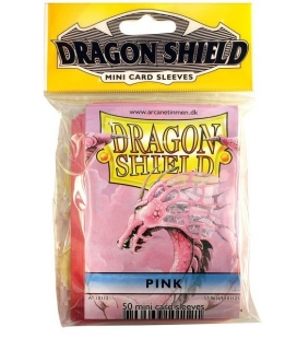 Fundas Small Dragon Shield Color Rosa - Paquete de 50