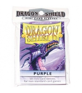 Fundas Small Dragon Shield Color Púrpura - Paquete de 50