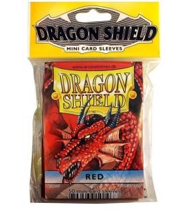 Fundas Small Dragon Shield Color Rojo - Paquete de 50