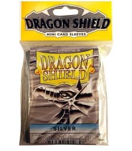 Fundas Small Dragon Shield Color Plata - Paquete de 50