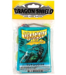 Fundas Small Dragon Shield Color Turquesa - Paquete de 50