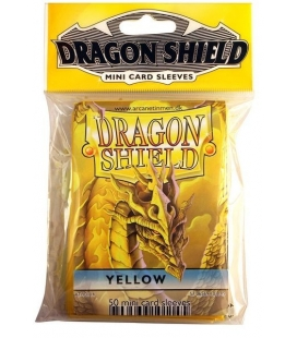 Fundas Small Dragon Shield Color Amarillo - Paquete de 50