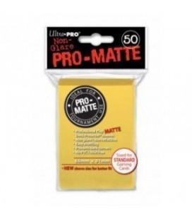 Fundas Ultra Pro Standard Pro Matte 66 x 91 Color Amarilo - Paquete de 50