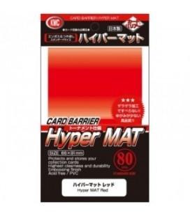 Fundas Standard KMC Hyper Mat Color Rojo - Paquete de 80