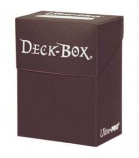 Caja de mazo para cartas Solid Ultra Pro. Para 85 cartas. Color Marrón