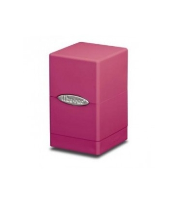 Caja de mazo Satin Tower Ultra Pro. Para 100 cartas. Color Rosa Brillante