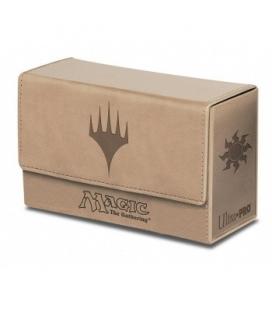 Caja de mazo Mana Magic Dual Flip Mate Ultra Pro. Para 160 cartas. Color Blanco