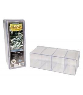 Caja de mazo Dragon Shield Cuatro compartimentos - Para 320 cartas. Color Transparente
