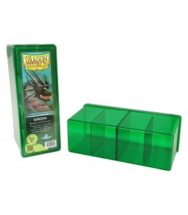 Caja de mazo Dragon Shield Cuatro compartimentos - Para 320 cartas. Color Verde