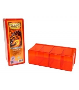 Caja de mazo Dragon Shield Cuatro compartimentos - Para 320 cartas. Color Naranja