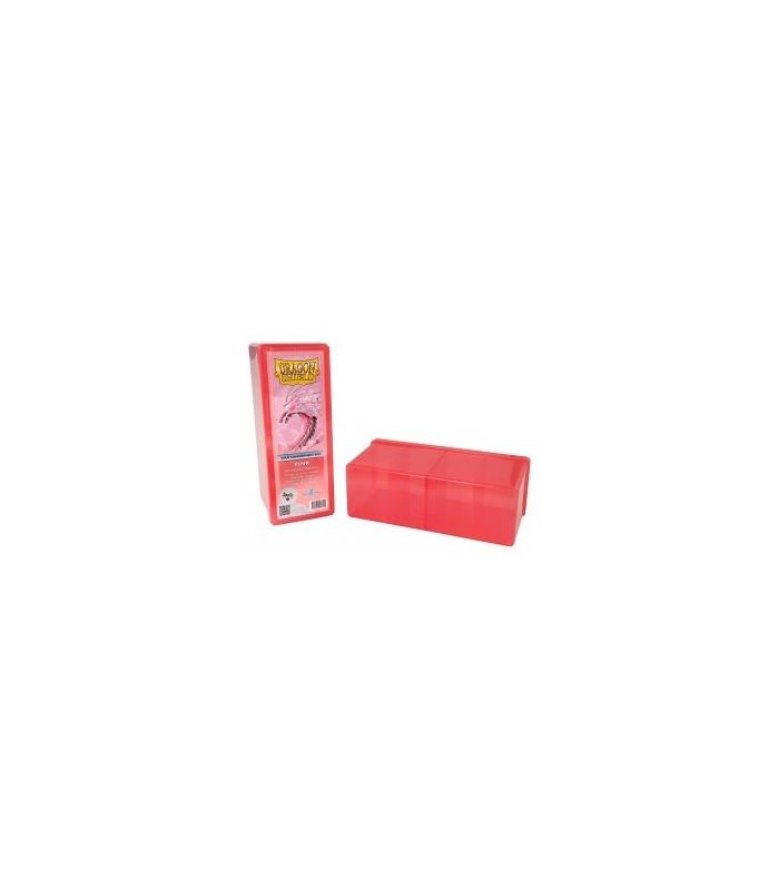 Caja de mazo Dragon Shield Cuatro compartimentos - Para 320 cartas. Color Rosa