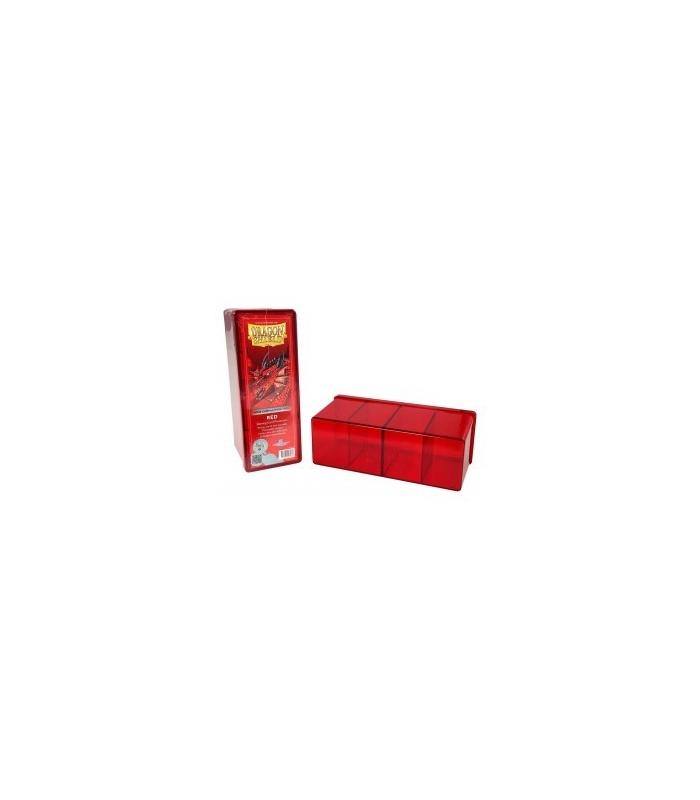 Caja de mazo Dragon Shield Cuatro compartimentos - Para 320 cartas. Color Rojo