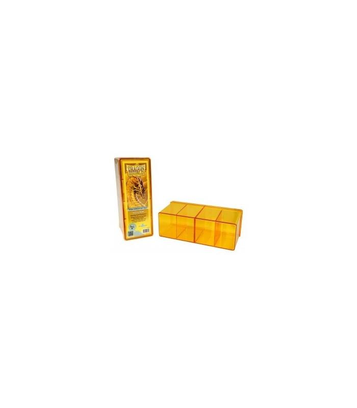 Caja de mazo Dragon Shield Cuatro compartimentos - Para 320 cartas. Color Amarillo