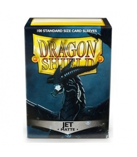Fundas Standard Dragon Shield Matte Color Jet - Paquete de 100