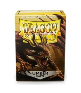 Fundas Standard Dragon Shield Matte Color Umber - Paquete de 100