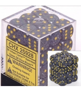 Dados de 6 caras Speckled Chessex. Urban Camo D6 - Bloque de 36
