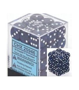 Dados de 6 caras Speckled Chessex. Stealth D6 - Bloque de 36