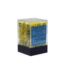 Dados de 6 caras Vortex Chessex. Amarillo / Azul D6 - Bloque de 36