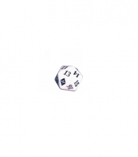 Dado de 20 caras Magic the Gathering. Wizards of the Coast. D20 Blanco