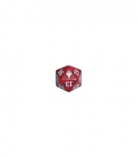 Dado de 20 caras Magic the Gathering. Wizards of the Coast. D20 Rojo