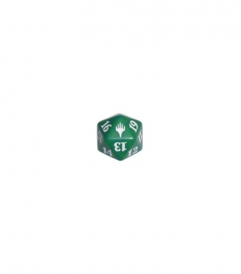 Dado de 20 caras Magic the Gathering. Wizards of the Coast. D20 Verde