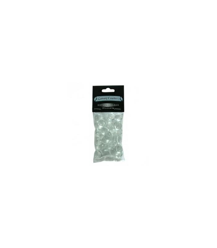 Contadores de juego Dragon Shield. Color Cristal Transparente - Paquete de 30