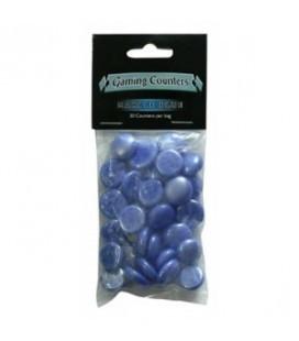 Contadores de juego Dragon Shield. Color Azul Mármol - Paquete de 30