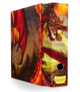Álbum Slipcase Binder Dragon Shield. Color Rojo