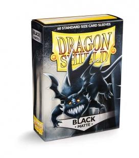 Fundas Standard Dragon Shield Pokemon Matte Color Negro - Paquete de 60