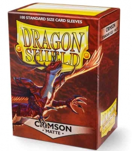 Caja de mazo Dragon Shield Gaming Box - Para 100 cartas. Color Rojo