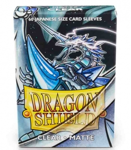 Fundas Small Dragon Shield Matte Transparente - Paquete de 60