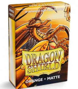 Fundas Small Dragon Shield Matte Naranja - Paquete de 60