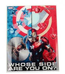 'De Qué Lado Estás' póster de vídrio 30x40 Marvel Civil War
