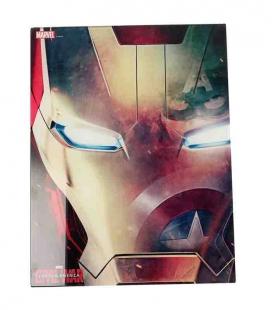 Iron Man rostro póster de vídrio 30x40 Marvel Civil War