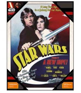 Luke y Leia póster de vídrio Star Wars 30x40 cm